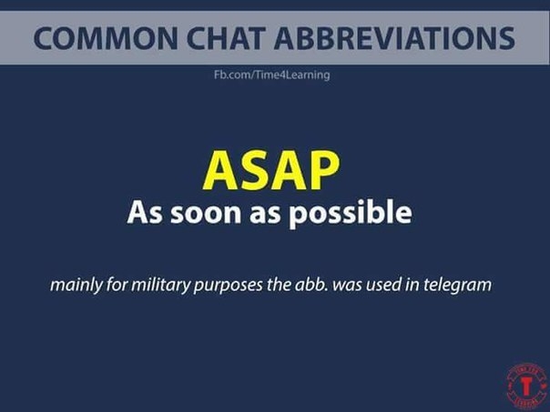 Common Chat Abbreviations.