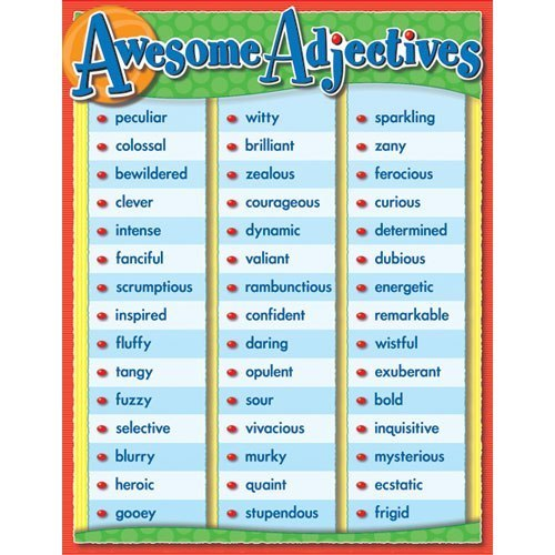 SHORT LIST OF USEFUL ADJECTIVES